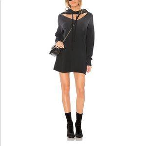 LNA hoodie dress black size Medium